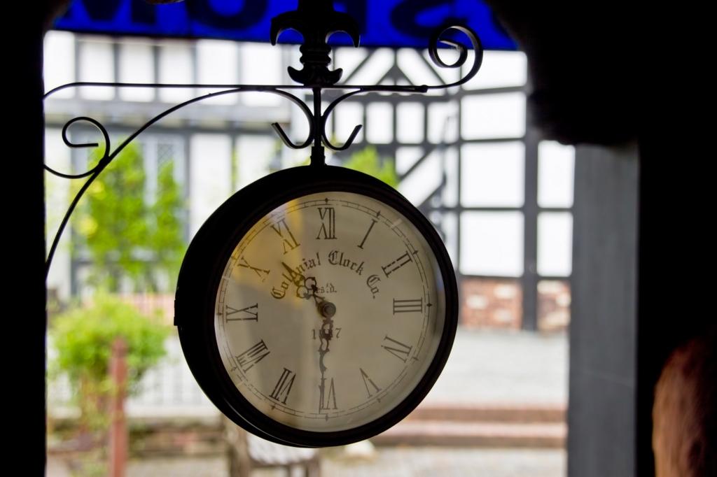 アンティーク時計の写真