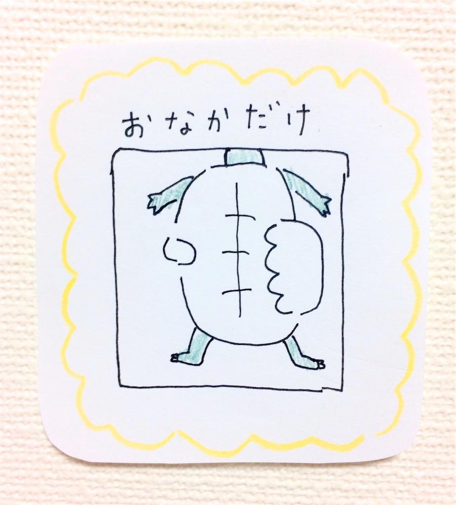 亀のおなかボールペンイラスト