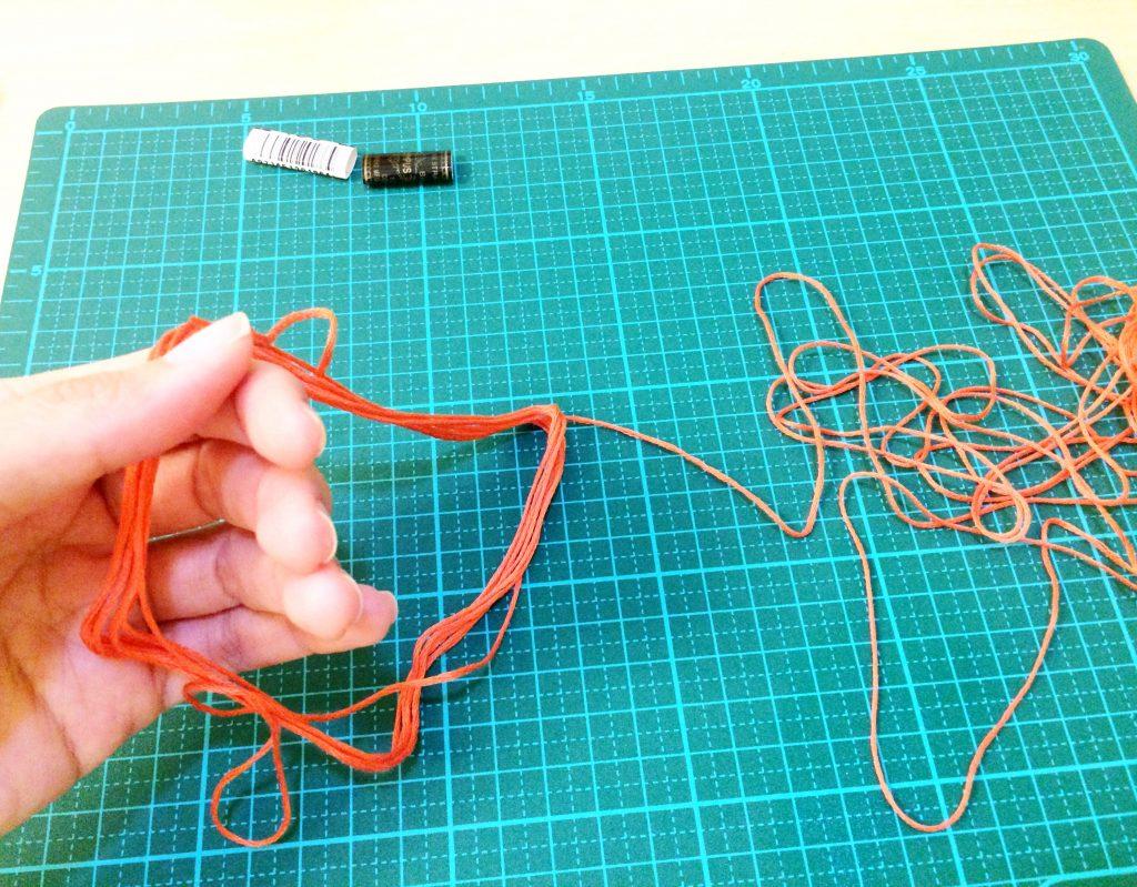 刺繍糸の抜き方手を入れてほどく