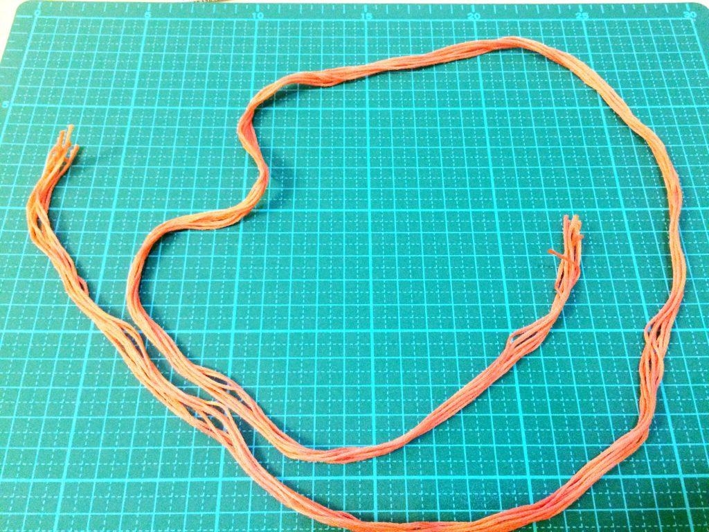 刺繍糸の抜き方8本の束