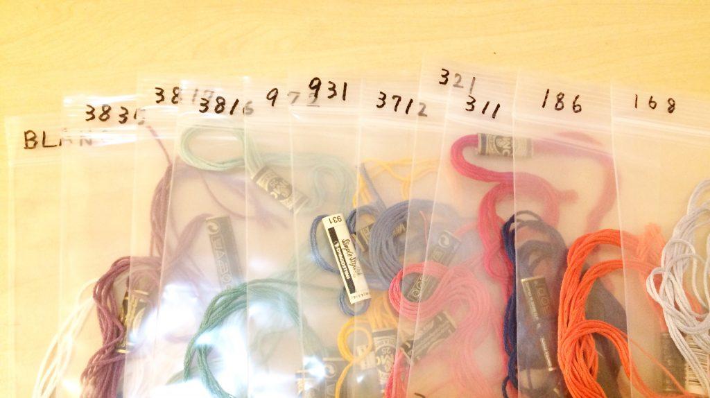 刺繍糸保管方法袋に入れた