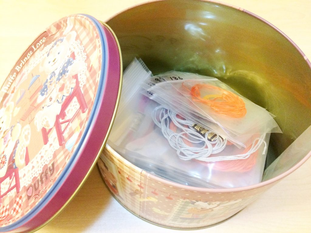 刺繍糸保管方法大きな缶