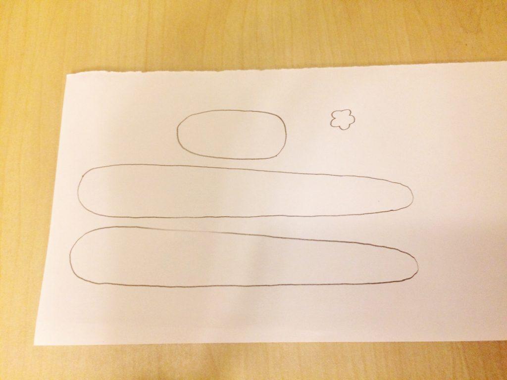 立体へび型紙