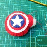 キャプテンアメリカ盾外側を縫う3