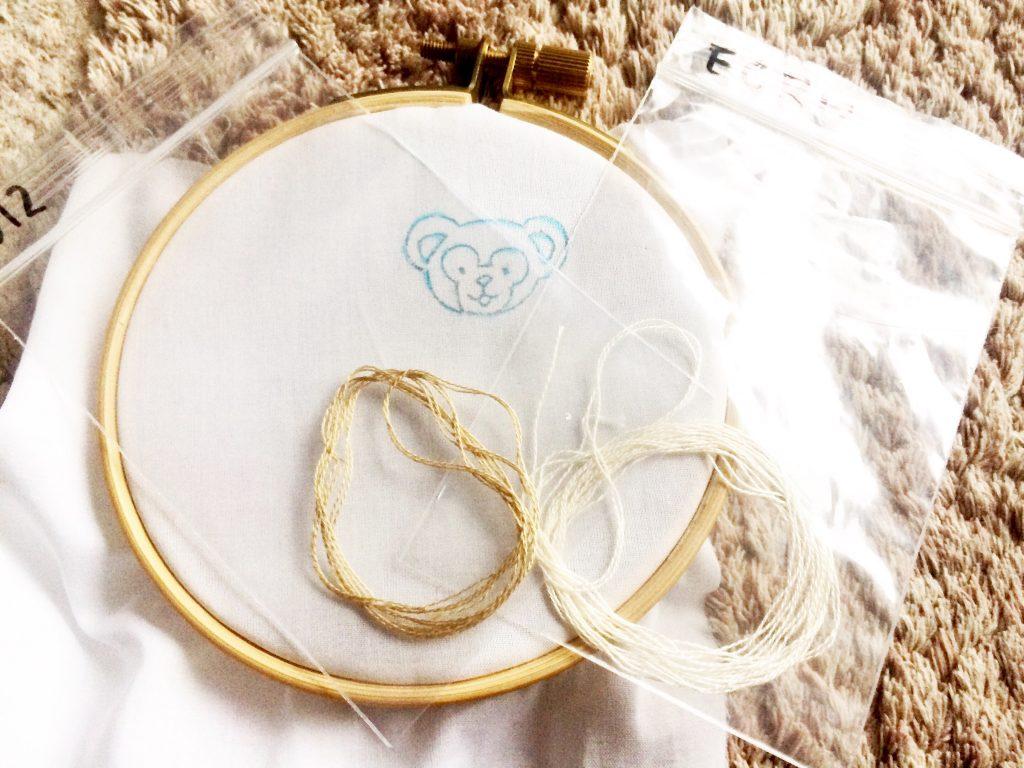 キャラクター刺繍 刺繍糸の準備