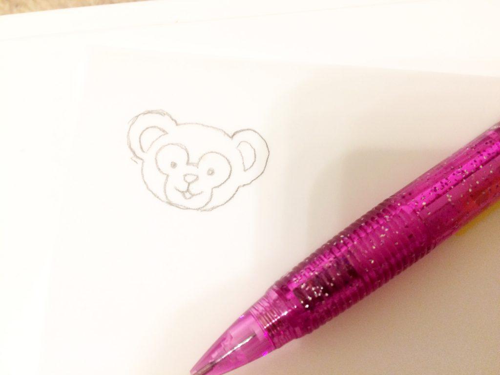キャラクター刺繍写せたところ
