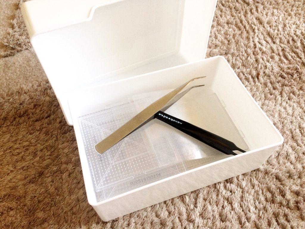 セリア白い箱アイロンビーズ