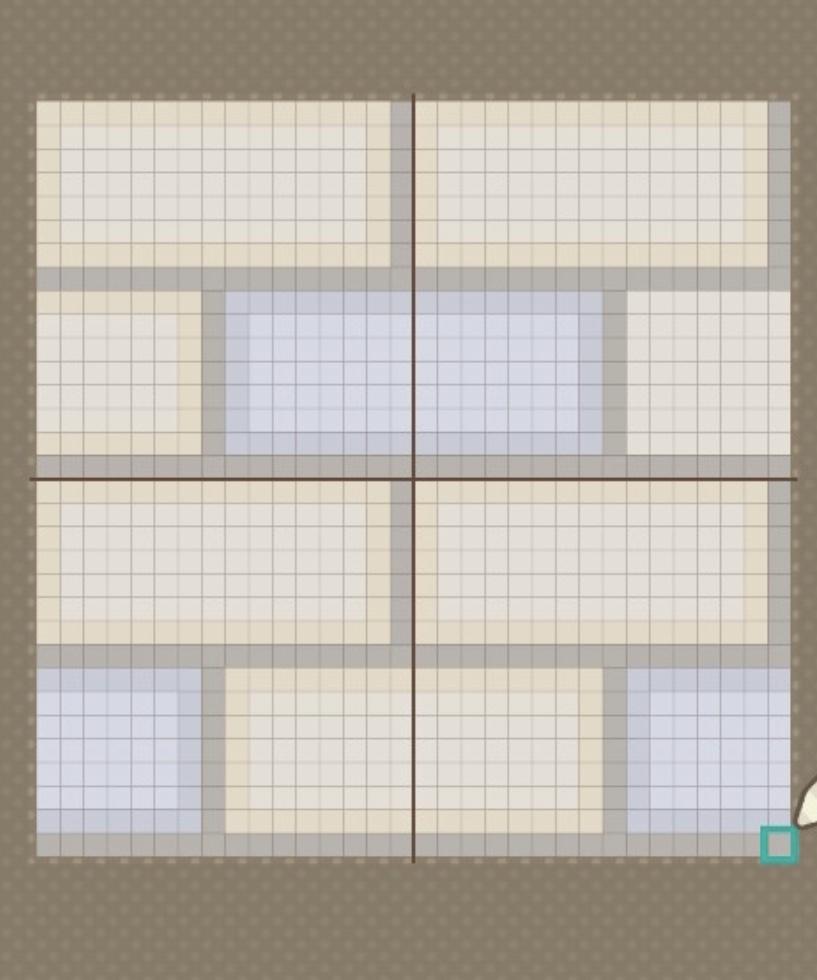 ドット絵レンガの描き方完成
