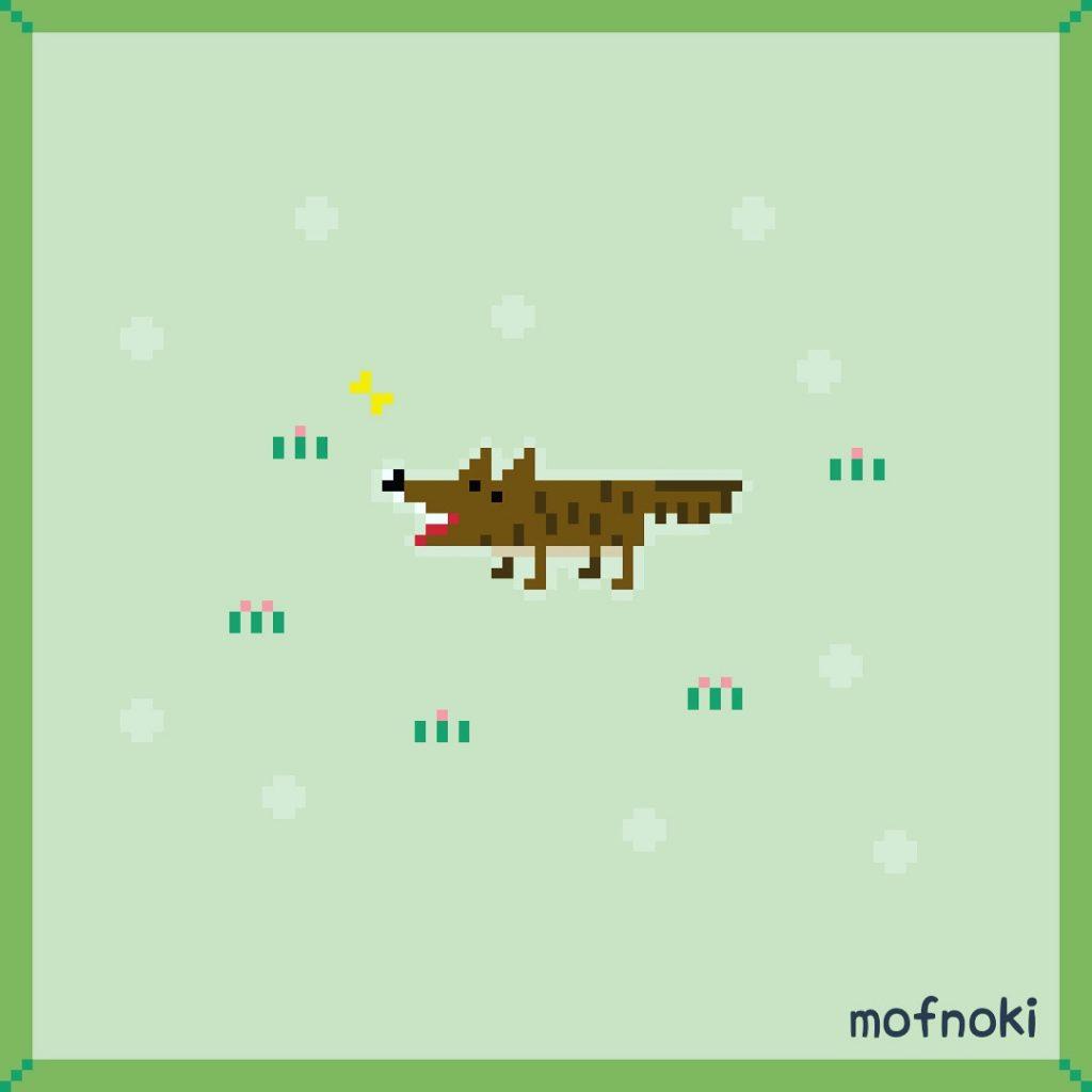オオカミさんのドット絵